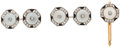Estate Jewelry:Cufflinks, Multi-Stone, Diamond, Platinum Cufflinks and Shirt Stud, Tiffany & Co.. ...