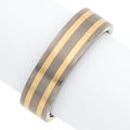 Art Glass:Daum, Gentleman's Titanium, Gold Band. ...