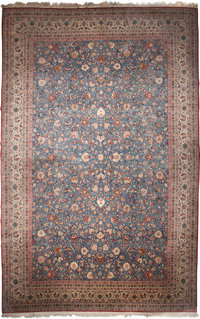 A Persian Sarouk Rug 20th Century 13 1 2 Feet Long X 20