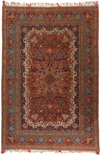 A PERSIAN ISFAHAN-STYLE RUG, 20th century 9 feet long x 13 feet wide (274.3 x 396.2 cm)  WEIDER HEALTH AND F