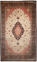 Rugs & Textiles:Carpets, A PERSIAN QUM SILK RUG, 20th century. 13 feet long x 21-1/2 feetwide (396.2 x 655.3 cm). WEIDER HEALTH AND FITNESS COLLEC...