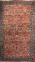 Rugs & Textiles:Carpets, A PERSIAN HEREKE WOOL KNOTTED CARPET, circa 1898. 24 feet long x 14feet wide. ...