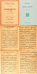 Books:Music & Sheet Music, [Sheet Music]. Six Pieces of Sheet Music. Various composers. Includes four by Bach (1904-1916). Most toned, with chippin... (Total: 6 Items)