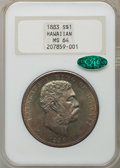 Coins of Hawaii: , 1883 $1 Hawaii Dollar MS64 NGC. CAC. NGC Census: (14/18). PCGSPopulation (20/18). Mintage: 500,000. ...