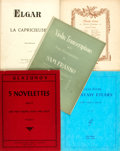Books:Music & Sheet Music, [Sheet Music]. Five Pieces of Sheet Music. Includes selections byElgar, Mischa Elman, Sam Franko, Lillian Fuchs and Glazuno...(Total: 5 Items)
