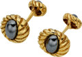 Estate Jewelry:Cufflinks, Jean Schlumberger for Tiffany & Co. Hematite, Gold Cuff Links. ...