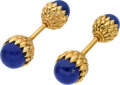 Estate Jewelry:Cufflinks, Jean Schlumberger for Tiffany & Co., Lapis Lazuli, Gold Cuff Links. ...
