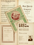 Books:Music & Sheet Music, [Sheet Music]. Five Pieces of Sheet Music. Includes selections byFelix Borowski, Eddy Brown, Max Bruch et al. Various publi...(Total: 5 Items)