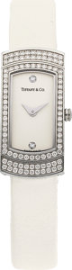Estate Jewelry:Watches, Tiffany & Co. Lady's Diamond, White Gold Watch. ...