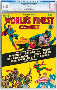 World's Finest Comics #10 (DC, 1943) CGC VG/FN 5.0 White pages