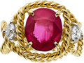 Estate Jewelry:Rings, Jean Schlumberger for Tiffany & Co. Ruby, Diamond, Gold Ring....