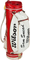 Golf Collectibles:Miscellaneous, Sam Snead Wilson Golf Bag From The Sam Snead Collection....