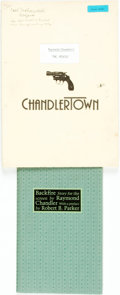 Books:Mystery & Detective Fiction, [Raymond Chandler]. Two Items Related to Raymond Chandler. Includesa screenplay for The Pencil by Jo Eisinger ad well a...(Total: 2 Items)