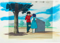Animation Art:Production Cel, Ranma 1/2 Ranma and Akane Production Cel Set-Up AnimationArt Fuji TV, 1989)....