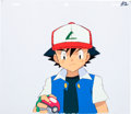 Animation Art:Production Cel, Pokemon Ash Production Cel and Color Model Drawing AnimationArt Group (OLM, 1997-2000s).... (Total: 2 Original Art)