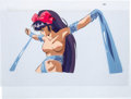 Animation Art:Production Cel, L.A. Blue Girl Miko Mido in Silks Production Cel and DrawingAnimation Art Group (Daiei Co. Ltd., 1992-93).... (Total: 2Original Art)