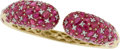 Estate Jewelry:Bracelets, Piranesi Ruby, Diamond, Gold Bracelet. ...