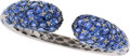 Estate Jewelry:Bracelets, Piranesi Sapphire, Diamond, White Gold Bracelet. ...