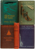 Books:Mystery & Detective Fiction, E. Phillips Oppenheim. Group of Four First Editions and One Later Printing. Various publishers, [1930s]. Original cloth bind... (Total: 5 Items)