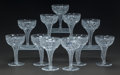 Art Glass:Other , ELEVEN CUT-GLASS CHAMPAGNE STEMS, 20th century. 5-1/8 inches high(13.0 cm). ... (Total: 11 Items)