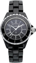 """Estate Jewelry:Watches, Chanel Lady's Ceramic, Stainless Steel """"J12"""" Watch. ..."""