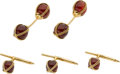 Estate Jewelry:Suites, Tiffany & Co. Carnelian, Gold Dress Set. ... (Total: 4 Items)