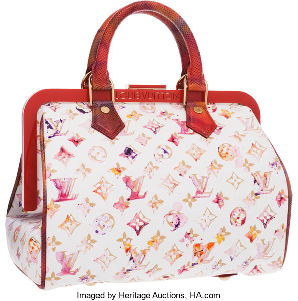 e20bb44242c6 Louis Vuitton Limited Edition White Aquarelle Watercolor