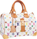 "Luxury Accessories:Bags, Louis Vuitton White Monogram Multicolore Canvas Speedy 30 Bag.Very Good Condition. 12"" Width x 7"" Height x 7""Depth..."