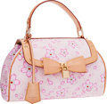 """Luxury Accessories:Bags, Louis Vuitton Limited Edition Pink Canvas Cherry Blossom Sac RetroBag by Takashi Murakami. Very Good Condition . 12""""..."""