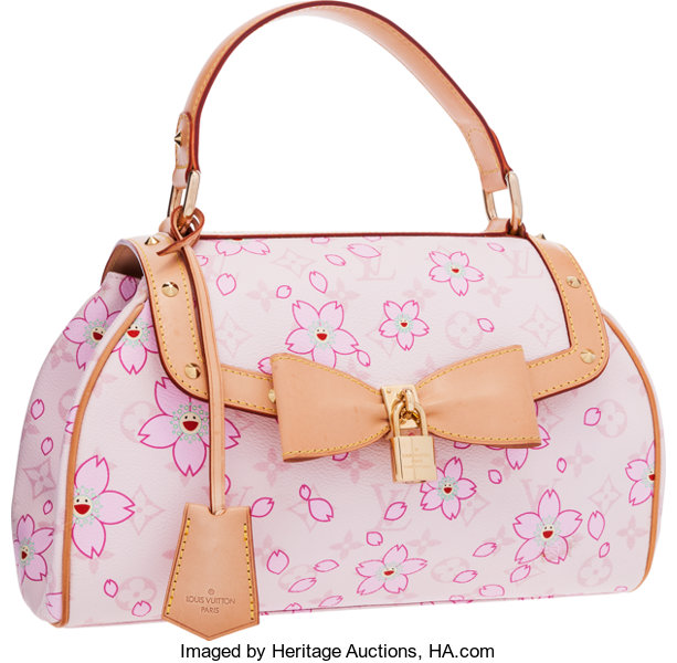 ef1192c719ef Louis Vuitton Limited Edition Pink Canvas Cherry Blossom Sac