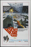 "Movie Posters:War, The 1000 Plane Raid (United Artists, 1969). One Sheet (27"" X 41"").War Drama. Directed by Boris Sagal. Starring Christopher ..."