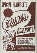 """Movie Posters:Sports, Basketball Highlights Stock (RKO, 1953). One Sheet (27"""" X 41""""). Newsreel. Great college basketball action from the early 195..."""