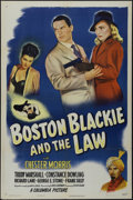 """Movie Posters:Crime, Boston Blackie and the Law (Columbia, 1946). One Sheet (27"""" X 41"""").Crime Thriller. Directed by David Ross Lederman. Starrin..."""