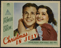 """Movie Posters:Comedy, Christmas in July (Paramount, 1940). Lobby Cards (4) (11"""" X 14"""").Comedy. Directed by Preston Sturges. Starring Dick Powell,...(Total: 4 Items)"""