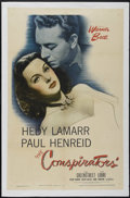 "Movie Posters:War, The Conspirators (Warner Brothers, 1944). One Sheet (27"" X 41"").Drama. Directed by Jean Negulesco. Starring Hedy Lamarr, Pa..."