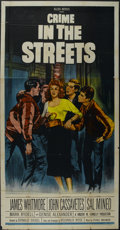"Movie Posters:Crime, Crime in the Streets (Allied Artists, 1956). Three Sheet (41"" X81""). Crime. Directed by Don Siegel. Starring James Whitmore..."