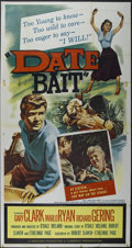 "Movie Posters:Bad Girl, Date Bait (Film Group, Inc., 1960). Three Sheet (41"" X 81""). Drama.Directed by O'Dale Ireland. Starring Gary Clark, Marlo R..."