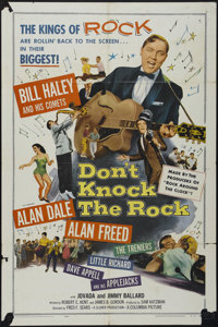 "Don't Knock The Rock (Columbia, 1957). One Sheet (27"" X 41""). Musical. Directed by Fred F. Sears. Starring Bil..."