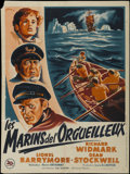 """Movie Posters:Adventure, Down to the Sea in Ships (20th Century Fox, 1949). French Petite(23.5"""" X 31.5""""). Adventure. Directed by Henry Hathaway. Sta..."""