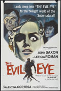 "Movie Posters:Mystery, The Evil Eye (American International, 1964). One Sheet (27"" X 41"").Horror. Directed by Mario Bava. Starring Letícia Román, ..."