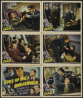 """Movie Posters:Crime, Eyes of the Underworld (Universal, 1943). Title Lobby Card andLobby Cards (5) (11"""" X 14""""). Crime. Directed by Roy William N...(Total: 6 Items)"""