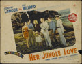 "Movie Posters:Adventure, Her Jungle Love (Paramount, 1938). Lobby Cards (2) (11"" X 14"").Adventure. Directed by George Archainbaud. Starring Dorothy ...(Total: 2 Items)"