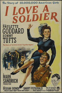 """I Love a Soldier (Paramount, 1944). One Sheet (27"""" X 41""""). Comedy. Directed by Mark Sandrich. Starring Paulett..."""