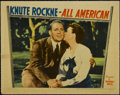 "Movie Posters:Sports, Knute Rockne -- All American (Warner Brothers, 1940). Lobby Cards (3) (11"" X 14""). Sports Drama. Directed by Lloyd Bacon. St... (Total: 3 Items)"