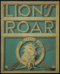 """Lion's Roar (MGM, 1941). Promotional Book (11"""" X 14""""). This is one of the rare volumes of the famous MGM publi..."""