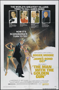 "The Man With the Golden Gun (United Artists, 1974). One Sheet (27"" X 41""). Style B. Action. Directed by Guy Ha..."