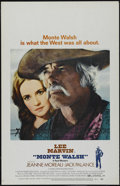 "Movie Posters:Western, Monte Walsh (National General, 1970). Window Card (14"" X 22"").Western. Directed by William A. Fraker. Starring Lee Marvin, ..."