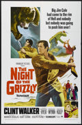"Movie Posters:Adventure, The Night of the Grizzly (Paramount, 1966). One Sheet (27"" X 41"").Adventure. Directed by Joseph Pevney. Starring Clint Walk..."