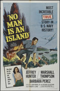 """Movie Posters:War, No Man Is an Island (Universal International, 1962). One Sheet (27""""X 41""""). War Adventure. Directed by Richard Goldstone and..."""