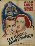 "Movie Posters:War, O.S.S. (Paramount, 1946). French Petite (23.5"" X 31.5""). Drama.Directed by Irving Pichel. Starring Alan Ladd, Geraldine Fit..."